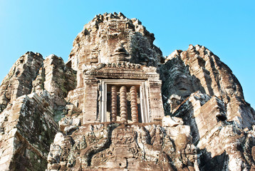Faces representing the all-seeing Bodhisattva adorn Angkor Thom'