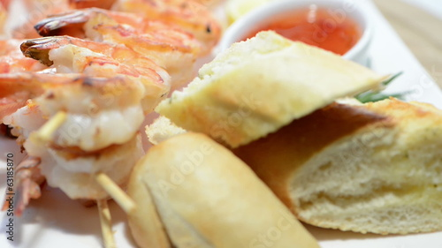Prawns with Chilli Sauce (loopable)
