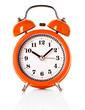 orange alarm clock isolated on white background - 63186051