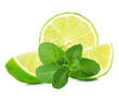 lime and mint isolated