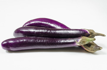 Three Asian Eggplants