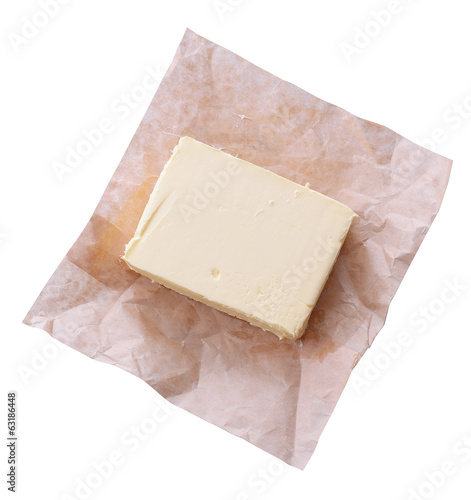 Tasty butter isolated on white