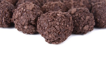 Delicious chocolates close-up