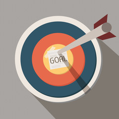 arrow on goal target