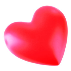Red heart on light background