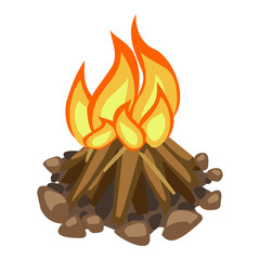 campfire isolated illustration
