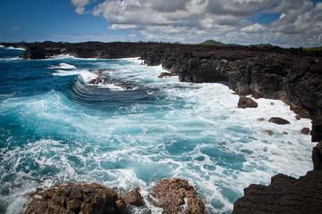 Hawaii Volcanic Rocky Coast Rough Ocean Waves