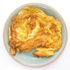 fried beaten egg , Thai cuisine omelet