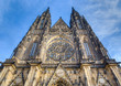 Saint Vitus Cathedral facade, Prague, Czech Republic