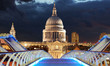 St pauls at night, London