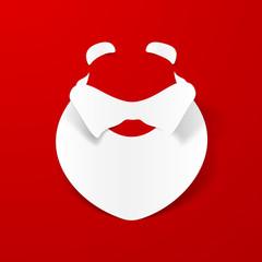 merry Christmas, beard sticker