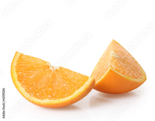 canvas print picture Orange fruit isolated