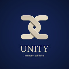 vector unity symbol design template
