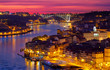 old town of Porto at sunset close up, Portugal
