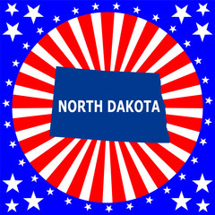 map of the U.S. state of North Dakota