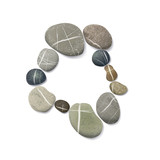 Fototapety striped pebbles circle