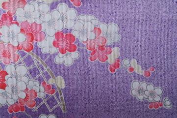 KIMONO(薄紫・花柄)