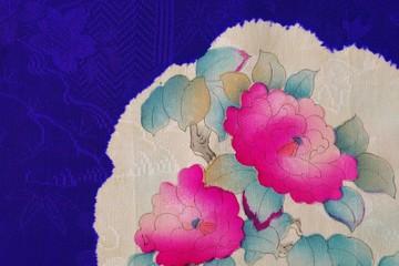 KIMONO(紫・花柄)