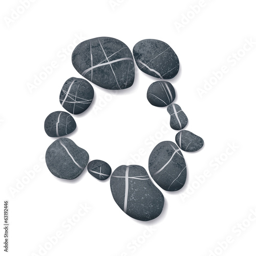 striped pebbles circle