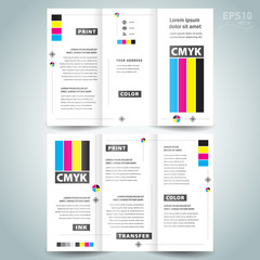 cmyk polygraphy - brochure design template