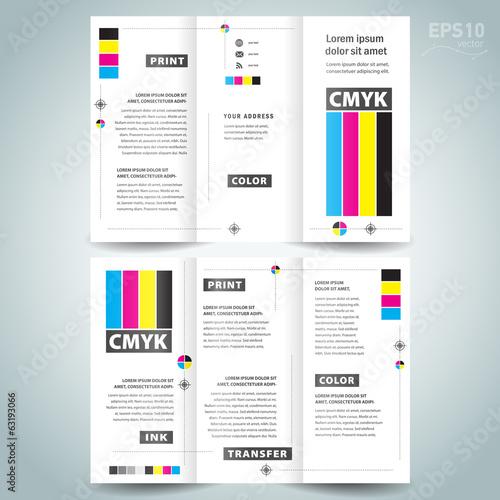 cmyk polygraphy - brochure design template - 63193066