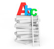 Education Concept. Books with ABC sign