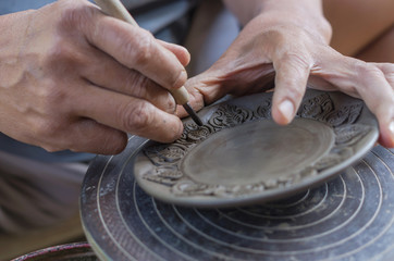Carving clay for make earthenware
