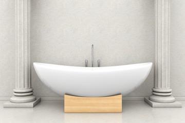 Vintage white bathtube