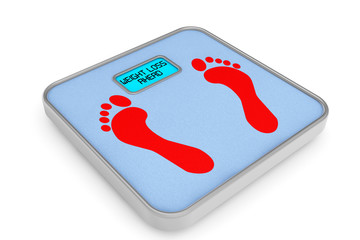 Digital Bathroom Weight Scale with Weight Loss Ahead Sign