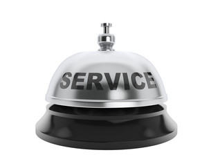 Service sign over service bell