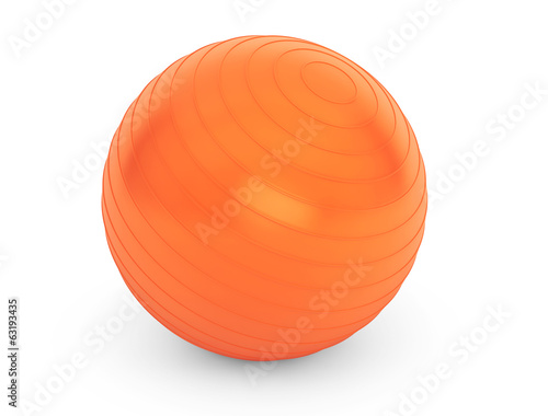 Big orange ball for fitness detail