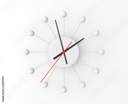 Minimalistic sphere wall clock
