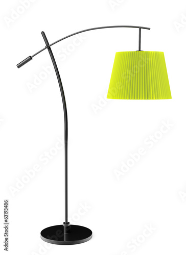 Green balanced floor lamp