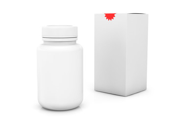 Blank medicine bottle with box