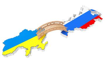Bridge between Ukraine and Russia