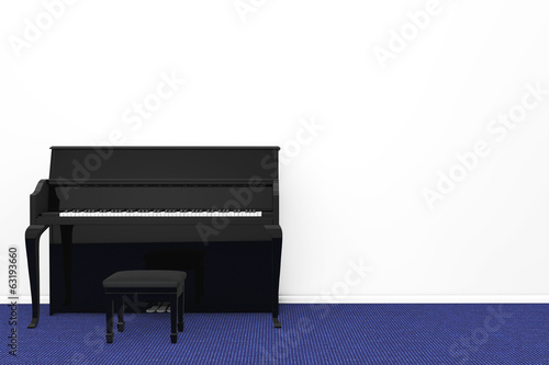 Black Piano with chair