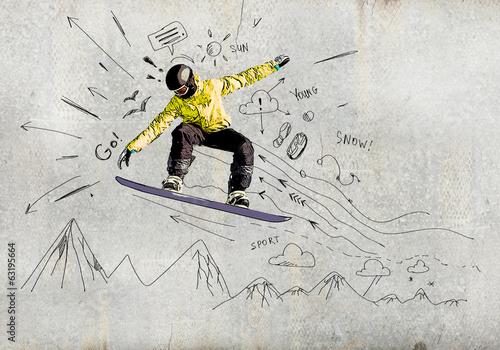 Fototapeta Snowboarding