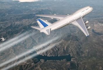 Passagierflugzeug über Portugal