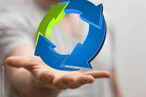 hand business circle