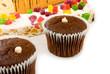 Isolated image of many  cakes