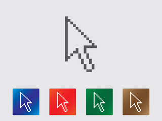 Pixel arrow icon collection