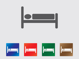 Sleep motel icon illustration