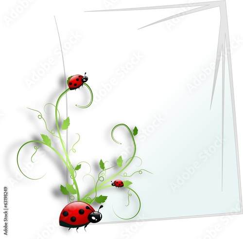 White paper with floral ornament