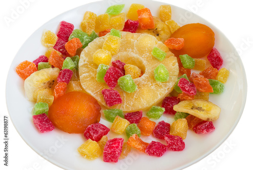 Dried fruit on a plate