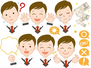 ビジネスマン 様々な表情