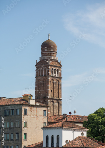 Onion Dome Bell Tower in Venice