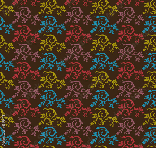Various Colors flower Pattern. Korean traditional Pattern Design