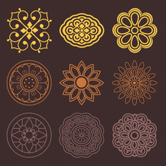 Flower and Plant Pattern Design. Korean traditional Pattern is a