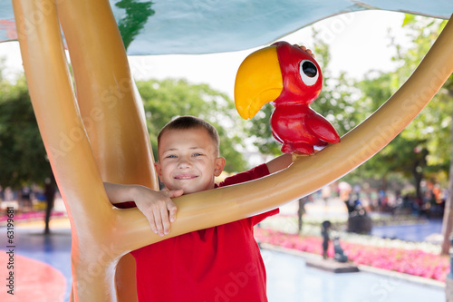 Boy in the entertainment park