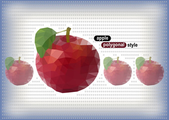 Polygonal apples with dotted background